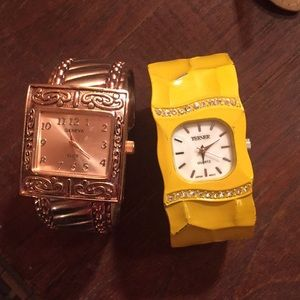 Two watches one rose gold & yellow